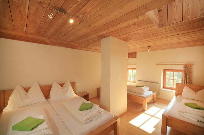 Vierbettzimmer auf der Kreinzhuabn