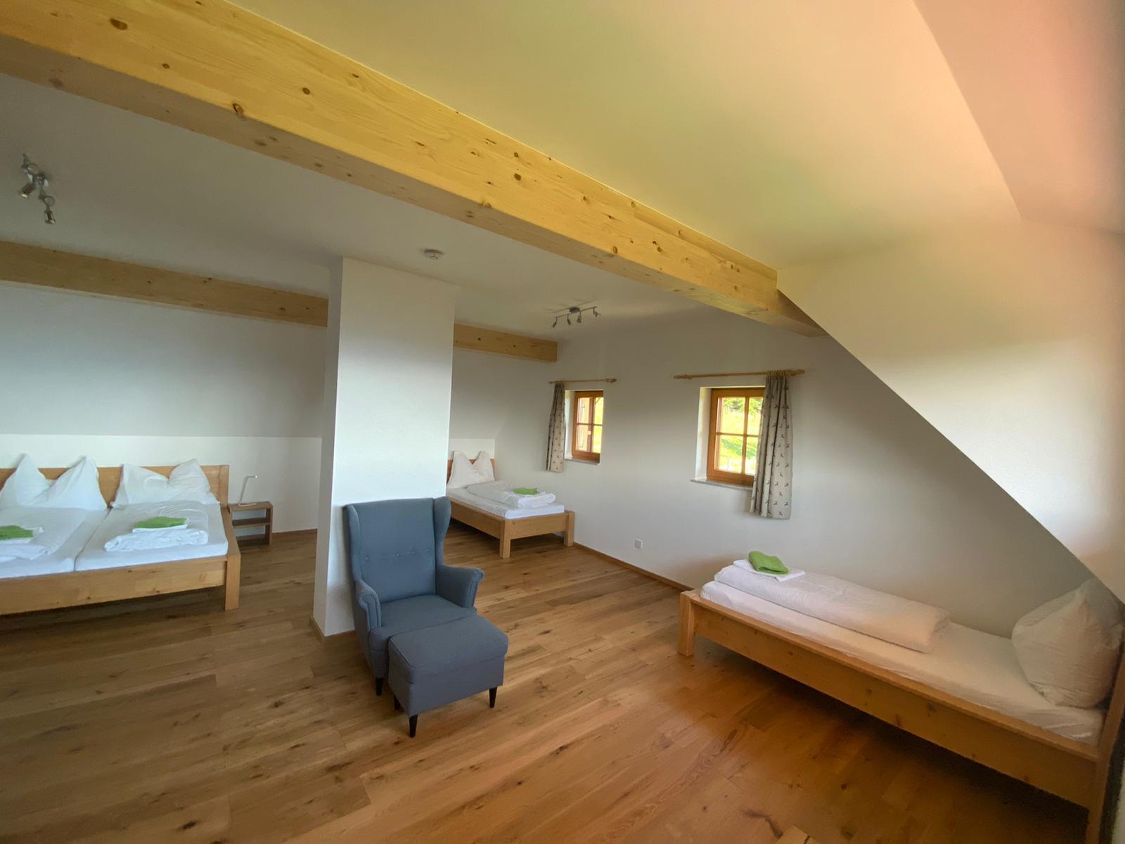 ausgebauter Dachboden als Schlafzimmer